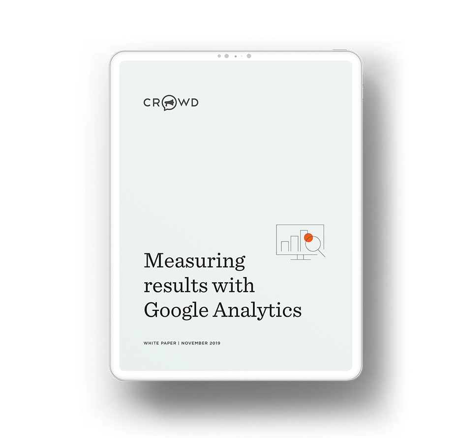 Measuring success with Google Analytics